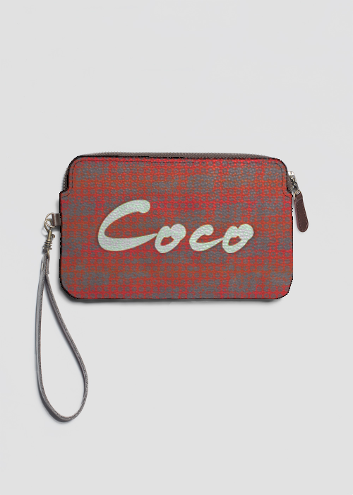 Coco leather clutch by Patricia Griffin